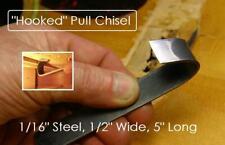 MusicianAtHeart HOOK CHISEL - guitar steel specialty scraper luthier tool