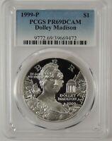1999-P $1 DOLLEY MADISON COMMEMORATIVE SILVER DOLLAR PCGS PR69DCAM #39669472
