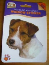 JACK RUSSEL ROUGH COATED DOG DOUBLE SIDED WINDOW STICKER