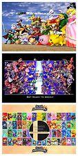 RGC Huge Poster- Super Smash Bros Melee Brawl Nintendo Wii U GameCube - SMASET2