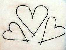 Wire Word Metal trio of hearts ~ home decor, nursery, anniversary, gift, wedding