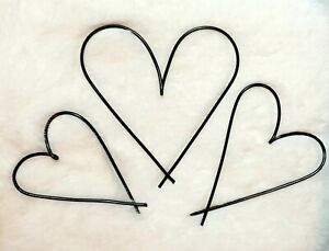 Wire Word Metal trio of hearts ~ home decor, love, anniversary, wedding