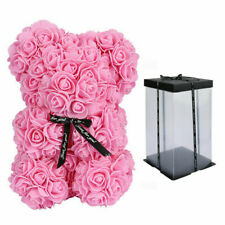 More details for rose bear flower teddy doll with box birthday wedding valentine lovers gift foam