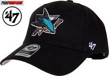 San Jose Sharks 47 Brand MVP Cap Regolabile Black NHL