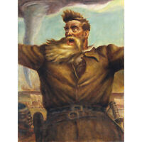 Curry Mural Abolitionist John Brown American Painting Extra Large Art Poster