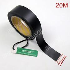 20m Seam Sealing Tape Iron On Hot Melt 2layer Waterproof PVC Coated Fabric Black