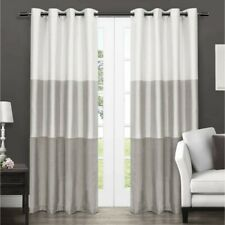 Exclusive Home Curtains Chateau Striped Faux Silk Grommet Top Curtain Panel