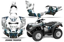 Honda Rincon AMR Racing Graphic Kit Wrap Quad Decal ATV 2006-2014 ZOMBIE WHITE