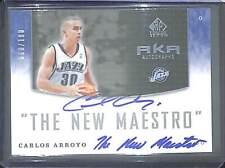 2004-05 Upper Deck SP Game Used Auto #AKA-CA Carlos Arroyo No 60 of 100