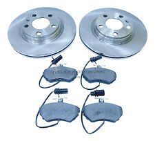 VW PASSAT 1.8 1.9 TDi 1997-2000 FRONT 2 BRAKE DISCS AND PADS + SENSOR (280mm)