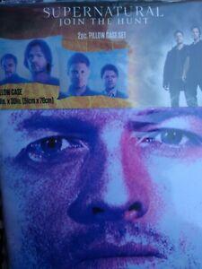 Supernatural Sam Dean Castiel Crowley Join Hunt  Pillowcase Pillow Case 2 Pack