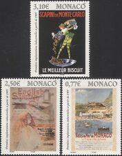 Monaco 2005 Posters/Art/Biscuits/Tourism/Harlequin/Business/Bath 3v set (n36414)