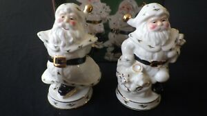 NEW Home For The Holidays Christmas 1999 Holly Santa Salt and Pepper Shakers
