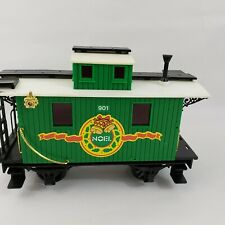 """Echo Toys Christmas Holiday Caboose Train Car Green White Black 9"""" L 3.5"""" W 6"""" H"""
