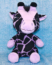 "Build A Bear Smallfrys Giraffe 7"" Plush Purple Black Stuffed Animal Small Frys"