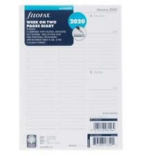 Filofax 2020 A5 Diary Refill Week to View White 80 GSM 64 Sheets