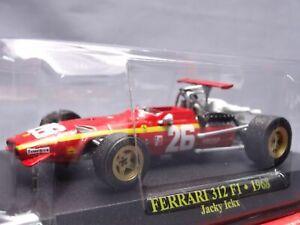 Ferrari Collection F1 312 1968 Jacky Ichx 1/43 Scale Mini Car Display Diecast 16