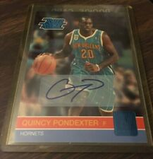 2010-11 Donruss Rated Rookie QUINCY PONDEXTER auto /599