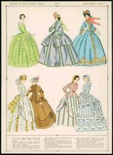 C1920 antica stampa FRANCESE ABITI VESTITI moda donna Cappellini (116)