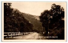 "Vintage RPPC ""In the Narrows"" National Highway, I-68, Cumberland, MD Postcard"