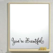 You're Beautiful Quote Inspirational Wall Decal For Home Bathroom Mirror JJ