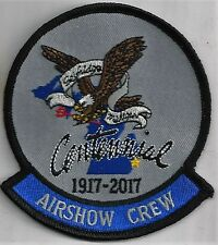 USAF 107th FIGHTER SQ  PATCH -             'AIRSHOW CREW CENTENIAL 2017'  COLOR
