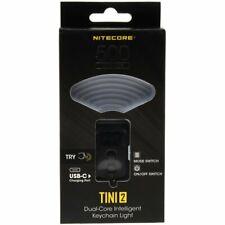 Nitecore TINI 2 LED-Schlüsselanhänger-Taschenlampe, 500 Lumen    Schwarz