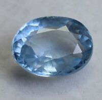 AAA 12.50 Ct Natural Blueish Aquamarine Oval Cut Loose Gemstone GIE Certified