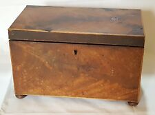 Wood vintage Victorian antique footed tea caddy box