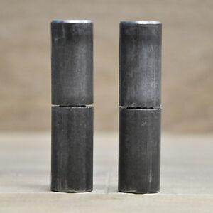 "3"" Inch Weld On Barrel Hinge For Metal Gates And Doors | Set of 2"