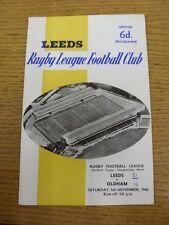 05/11/1966 Rugby League Programme: Leeds v Oldham  (Folded, Creased Corner, Scor
