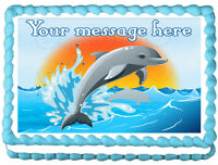 DOLPHIN Image Edible cake topper decoration