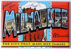 "Greetings from Milwaukee Wisconsin FRIDGE MAGNET travel souvenir beer ""style B"""