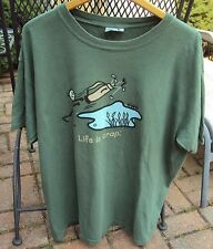 Mens Life is Crap Short Sleeved T-shirt 100% Cotton XL XLarge Golfing Green
