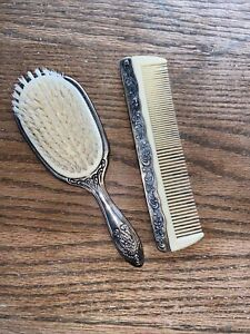 Vintage Hairbrush And Comb