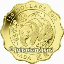 Canada 2012 Blessings Good Fortune Giant Panda $150 Lotus Shaped Pure Gold Proof