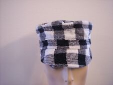 August Accessories Womens Checked Military Cap Hat