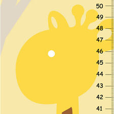Personalized Children Giraffe Growth Charts- yellow