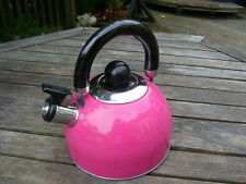 Brand new Retro sexy pink whistling kettle shabby Chic