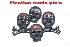 *-Lot de 4 tête de Mort-* (Fixation de type pin's)
