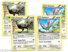 Pokemon 4 UNFEZANT 86/114 Raras x4 Español Incoloro RARA