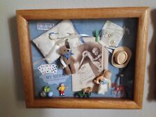 "Vintage Shadow Box ""It's A Baby Boy! "" great gift for New Born! Handmade 9x11"""