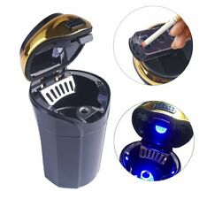 Car Ashtray and Cigarette Lighter with Blue Led Light For Most Car Cup Holder US