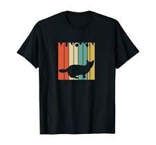 Vintage Munchkin Cat Funny Gift T-Shirt Black S-5Xl