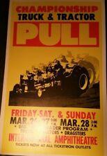 "Championship Truck & Tractor Pull Promo Poster14""x22""International Ampitheatre"