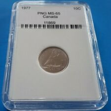 Canada, 10 cents, Ten cents. 1977. MS-65. PNG # 11869