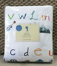 Pottery Barn Kids Sheet Set A to Z Full Size Cotton New Discontinued 200 Thread
