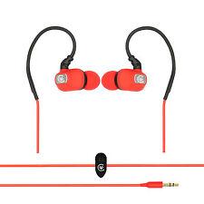 Se esfuerzan Correr Gimnasia Deportes Gancho Para La Oreja Auriculares Audífonos Ipod Iphone-Rojo