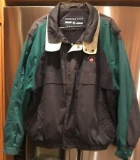 Large Vintage Hipster Members Only Mariners Navy, Green, and Khaki Windbreaker