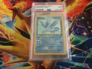 Pokemon Card 1999 Fossil Set Articuno HOLO PSA 9 MINT 2/62